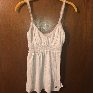 Hollister Tops - Gray Hollister Adjustable Peplum Tank